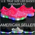 Toddler LED Light Up Sneakers Luminous Shoes size 5-10 Battary Belt Athletic
