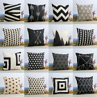 18'' Vintage Cushion Cover Cotton linen Geometric Throw Pillowcase Home Decor