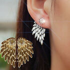 Gold Angel New Women's Party Alloy Rhinestone Wings Earrings