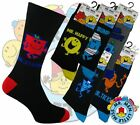 6 Mens MR MEN Cartoon Novelty 100% OFFICIAL Character Socks UK 6-11