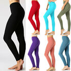 Women's Cotton Full Length Leggings Soft Stretch Yoga Pant Long Fitness Plus Reg