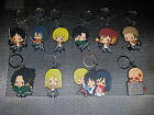 Attack on Titan Keychain Anime Eren AOT 1x Keyring Double Sided PVC - UK Seller!