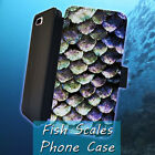 Fish Scales Ocean Sea Leather Wallet iPhone 7 6 6s 5 5s 4 4s 6 Plus Case