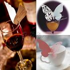 Butterfly Name Place Cards Wine Glass Table Mark Xmas Party Wedding Favor DIY
