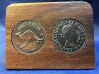 40th wedding anniversary Jarrah Plaque w/ 1977 penny. Other years available