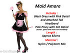 New Ladies Mischievious French Maid Black White Costume Fancy Dress Last One