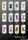 Personalised Custom Name Disney Vogue Princesses Clear Phone Case Cover PH 560 segunda mano  Gran Bretaña