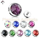 14G Gem Dome Dermal Anchor Body Jewellery Spare Part Internally Threaded