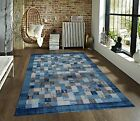 RUGS AREA RUGS CARPET FLOORING 2400 BLUE ABSTRACT CARPET LARGE NEW AREA RUG