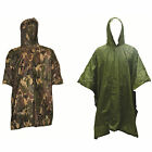 Lightweight Hooded Multi-Purpose Poncho DPM Camo & Olive Hunting Fishing Army