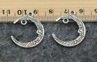8/30/150pcs 26x21mm Antique Silver Filigree The moon Connector Link gift B115