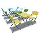 Bimini Wicker Patio Dining Bistro Set - Folding Table and Chairs