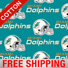 """Miami Dolphins NFL Cotton Fabric - 60"""" Wide - Style# 6459 - Free Shipping!!"""
