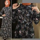 Abaya Women 8 10 12 US SIZE Long Sleeve Maxi Long Dress Floral Flowers MSE