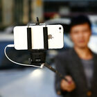 Extendable Wired Selfie Stick Phone Holder Remote Shutter Monopod For...