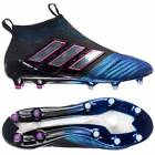 adidas Ace 17+ PureControl Firm Ground Football Boots - Core Black/White/Blue