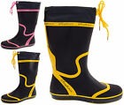 Ladies Seafarer Sailing Festival Waterproof Rain Wellington Boots Size 4 5 6 7 8