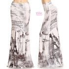 Eiffel Tower Paris Sublimation high waist fold over maxi long skirt (S/M/L/XL)