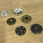 Large Metal Snap Fasteners Press Studs Black Silver Antique Gold 25mm 30mm per 5