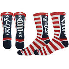 KICK ASS Crew Socks unisex elite style novelty dont mess with USA red white blue