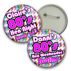 80's Weekender Personalised Hen Night Badges - 58mm party badges