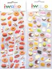 Iwako Food Themed Gel Stickers Sticker Sheet (Your Choice of Design)~KAWAII!!