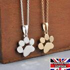Cute Paw Print Gold Silver Chain Pendant Unisex Necklace Puppy Kitten Dog Cat
