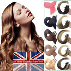 Ombre Balayage Tape in Remy Human Hair Extensions Seamless Straight Real Hair UK