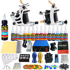 Complete Tattoo Kit needles 2 Machine Gun Power Supply 14 Color Ink Tip TK213