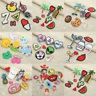 1 Set Embroidered Patches Sew Iron On Bags Hats DIY Craft Badge Cloth Fabric