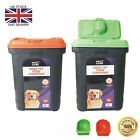Pet Food Storage Container Cat Dog Dry Food Bird Seed Box Bin Flip Top Lid Scoop