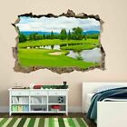 Golf Course Green Bunker Trees Wall Sticker Mural Decal Home Office Decor BF21