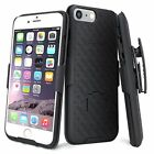 Apple iPhone Belt Clip Holster Combo Cell Phone Case With Kick Stand Cover