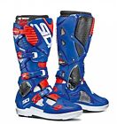 Sidi | Crossfire 3 Srs Boots White Blue Red Fluo Motorcycle Mx Motocross Offroad
