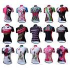 Women Sports Cycling Jersey Bike Short Sleeve Clothing Bicycle Shirts XS-3XL
