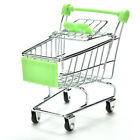 1X Dark Miniature Metal Grocery Shopping Cart/ Doll Size/ Home Decoration