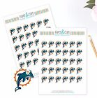 Miami Dolphins Planner Stickers - Perfect for all Planners like Erin Condren $2.5 USD on eBay