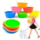 Sale Fashion Pet Cat Dish Collapsible Dog Water Feeding Bowl Silicone Feeder