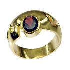Garnet Copper goodly jewellery Ring Red L-1in UK K,M,O,Q