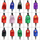 Unisex Top satin Adult Super Hero Costume Superman Cloak Cape Outfit 110x70cm
