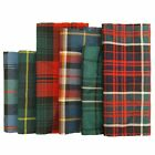 100% Wool Tartan Fabric Offcuts Patchwork Cloth Scraps Random Mixed Size