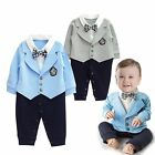 Baby Boy Wedding Christening Formal Tuxedo Jacket Suit Outfit Clothes Size 00-2