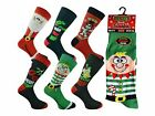 12 Mens Santa Xmas Stocking Filler Novelty Festive Christmas Socks UK 6-11