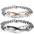 "Stainless Steel "" I was born to love you "" Infinity Couples Mens Womens Bracelet"