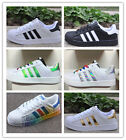 New Women's Fashion Leather Casual Lace Up Sneakers Trainer Shoes-Superstar