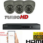 4CH DVR HIKVISION HDMI 3X HD 1080P CCTV SYSTEM DOME EYEBALL CAMERA NIGHT VISION