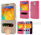 HOT PU Leather Window-View Flip Case Cover for Samsung Galaxy Note 3 N900 N9002
