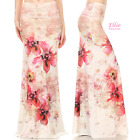 Watercolor Floral Elegant Sublimation high waist maxi long skirt (S/M/L/XL)