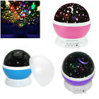 Beautiful Rotating Star Sky Starry LED Night Light Lamp Projector Kid's Bedroom