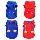 Cartoon Bear 2 Color Pet Shirt Vest Dog Cat Shirt Vest Pet Clothes  XXS XS S M L